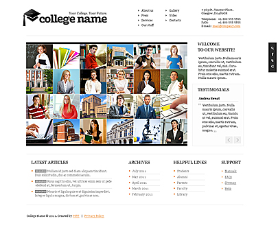 College name joomla template's image