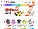 OS23130008 Kids Fashion - osCommerce, ECOMMERCE FLASH website templates
