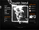 Music Band Html - HTML template, frontpage flash templates