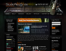 Studio Records Html - HTML template, frontpage flash templates