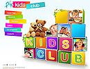 Kids Club - Easy flash templates, Children  website templates