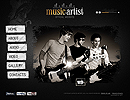 Music Artist - Easy flash templates, FULL FLASH website templates