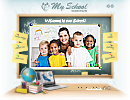 My school - Easy flash templates, Schooling flash site design