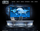TV Station - Video XML flash template, Video Admin Flash website templates